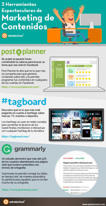 herramientas para el marketing de contenidos infografia