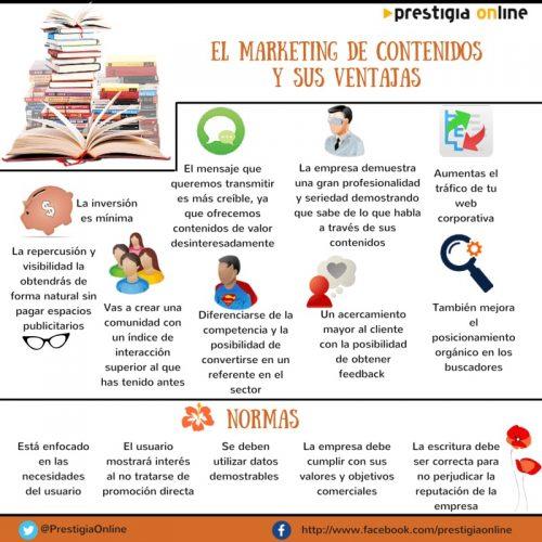 Ventajas del marketing de contenidos #infografia